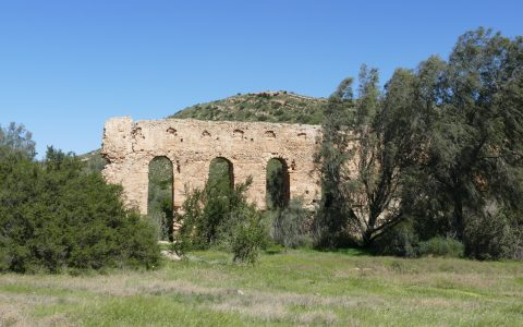 TN – Ruined Cherichira aqueduct (IX-X th cent.), part of the antique water supply system to the Kairouan city