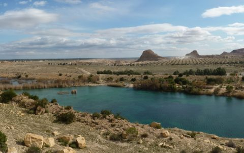 TN - The permanent lake at the foot of the El Haouareb dam