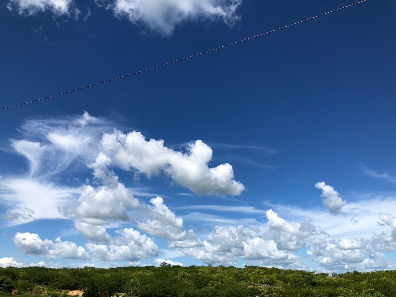 No sábado e no domingo, cobertura de nuvens não será constante (FOTO: Marciel Bezerra)