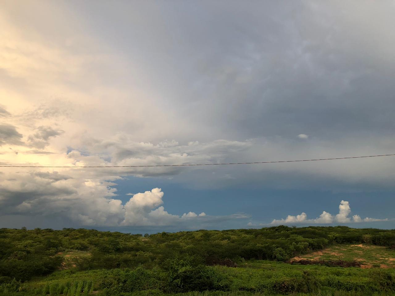 A cobertura de nuvens será variada em todo o território do estado (FOTO: Marciel Bezerra)