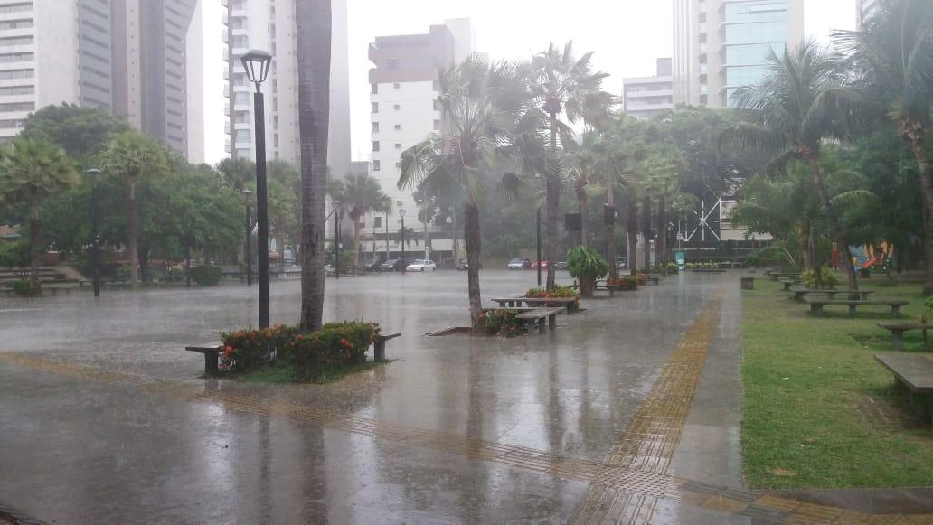 A Capital, como de costume, vem apresentando bons índices de chuva neste período (FOTO: Bruno Dias)
