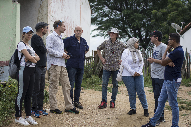 Comitiva de pesquisadores visita o município de Quixeramobim, localizado na macrorregião do Sertão Central e Inhamuns (FOTO: Juliana Lima)