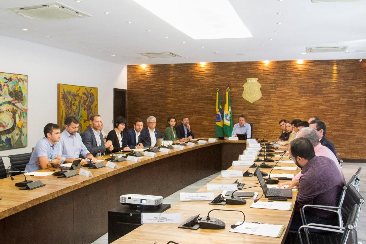 O corpo técnico do Governo do Ceará vai continuar se reunindo com os representantes da Agência Francesa de Desenvolvimento para delinear projetos prioritários nas áreas de interesse de novos investimentos (FOTO: José Wagner)
