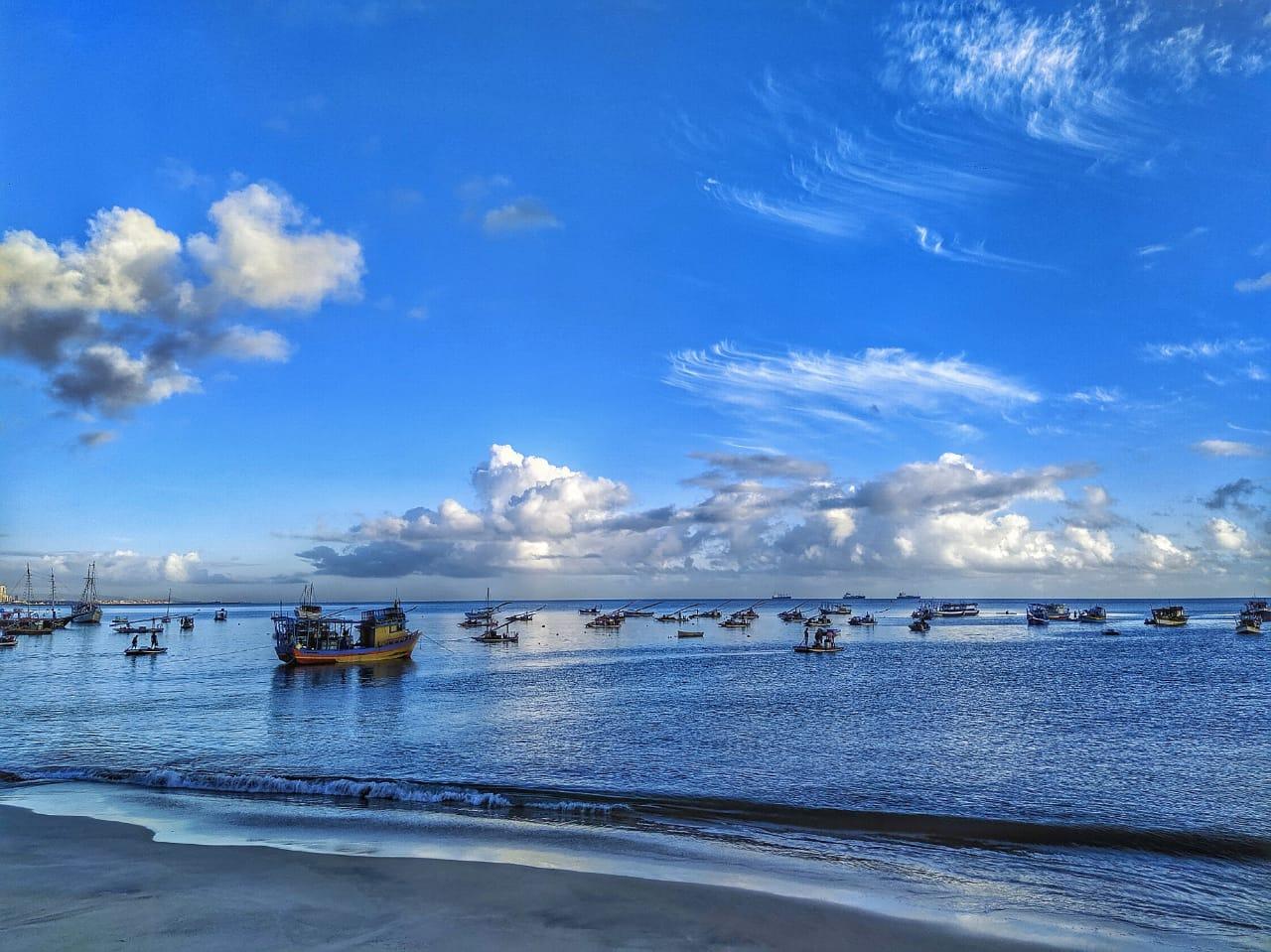 Fortaleza está na área propícia à chuva neste fim de semana (FOTO: Thiago Freitas)