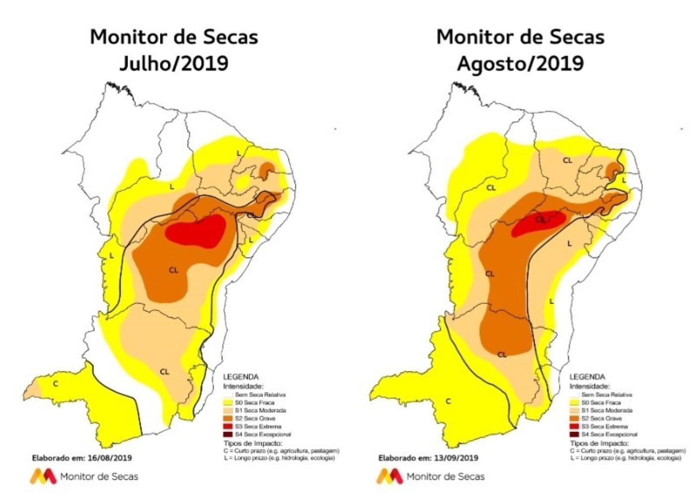 O mapa do Monitor é produzido mensalmente por um grupo de instituições e pessoas de diversos Estados do Nordeste e do Governo Federal, de forma colaborativa e voluntária. (FOTO: Divulgação)