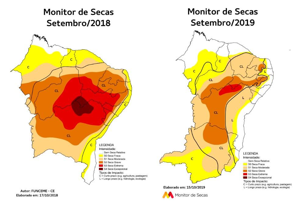 Atualmente, o Monitor de Secas conta, além dos estados do Nordeste, com Minas Gerais e Espírito Santo (FOTO: Reprodução)
