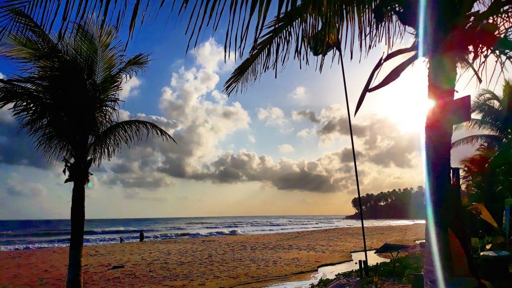 Atuação da brisa terrestre traz chuvas passageira para o litoral (FOTO: Érico Frota)