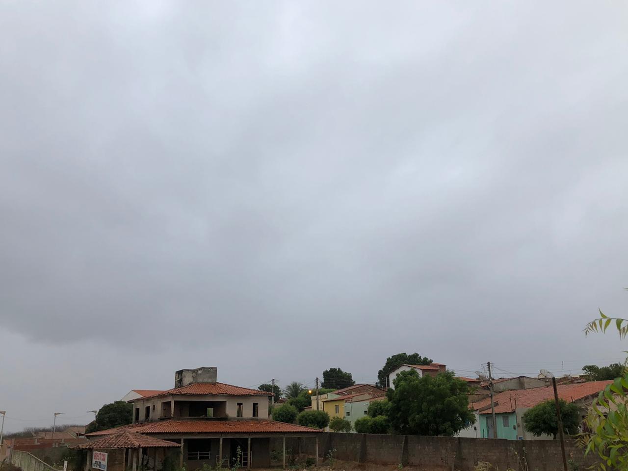 Maior concentração de nuvens colaborou para chuvas no sul do Estado (FOTO: Marciel Bezerra)