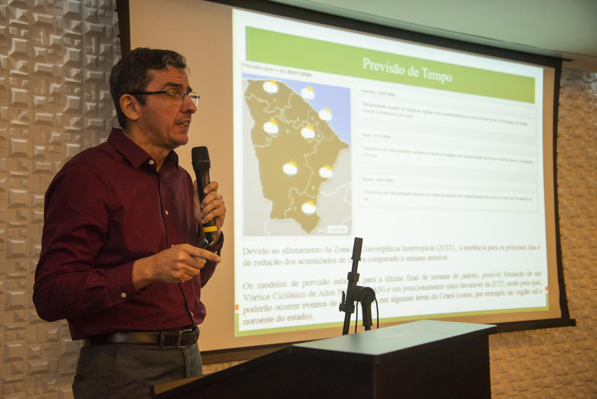EDuardo Sávio Matins, presidente da Funceme, anunciou o prognóstico para 2020 (FOTO: Marcos Studart)