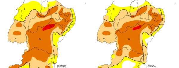 Noroeste do CE concentra área sem seca relativa (IMAGEM: Reprodução/Monitor de Secas)